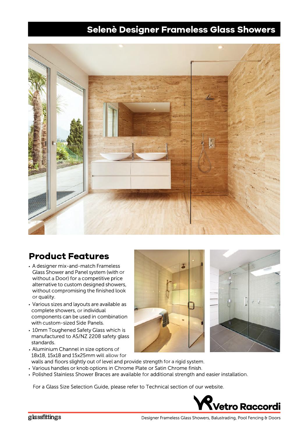Selene Kitset Frameless Glass Showers