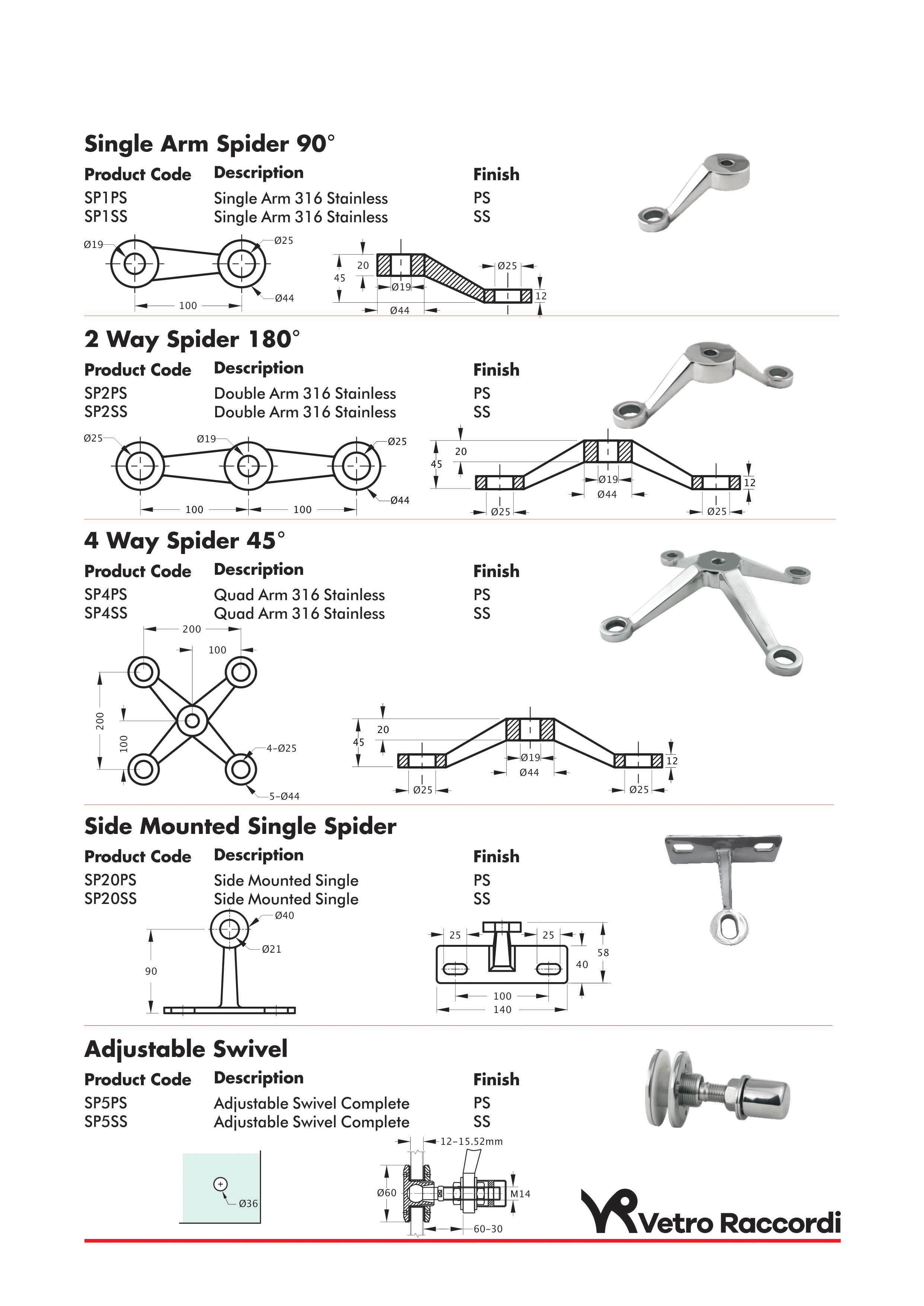 Spider Fittings Vetro Raccordi Glass Fittings And